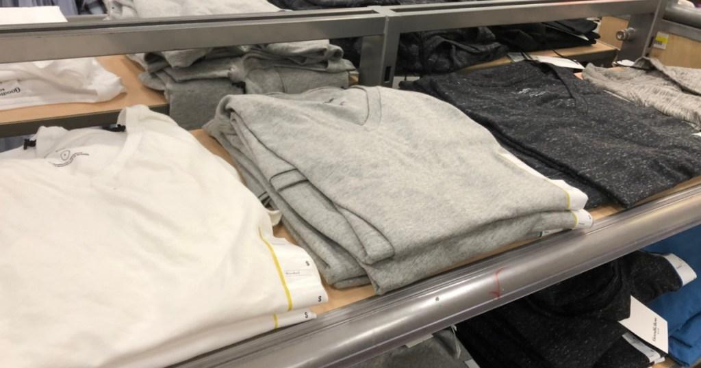 men's v-neck t-shirts in-store at Target