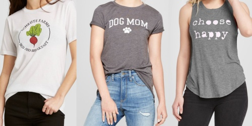 Women's Graphic Tees & Tanks Only $8 at Target (Regularly $13)