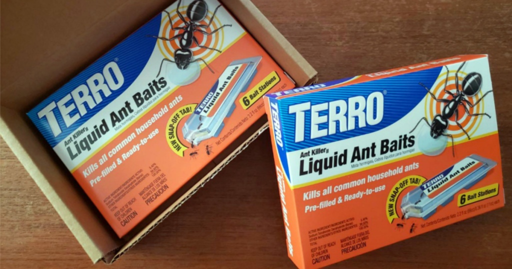 two packs of Terro Liquid Ant Baits