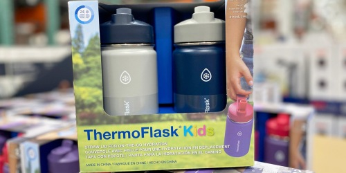 TWO ThermoFlask Kids Insulated Water Bottles Only $13.99 at Costco