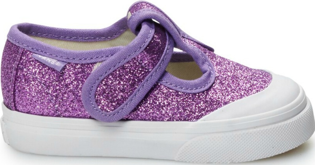 purple glittery toddler shoes