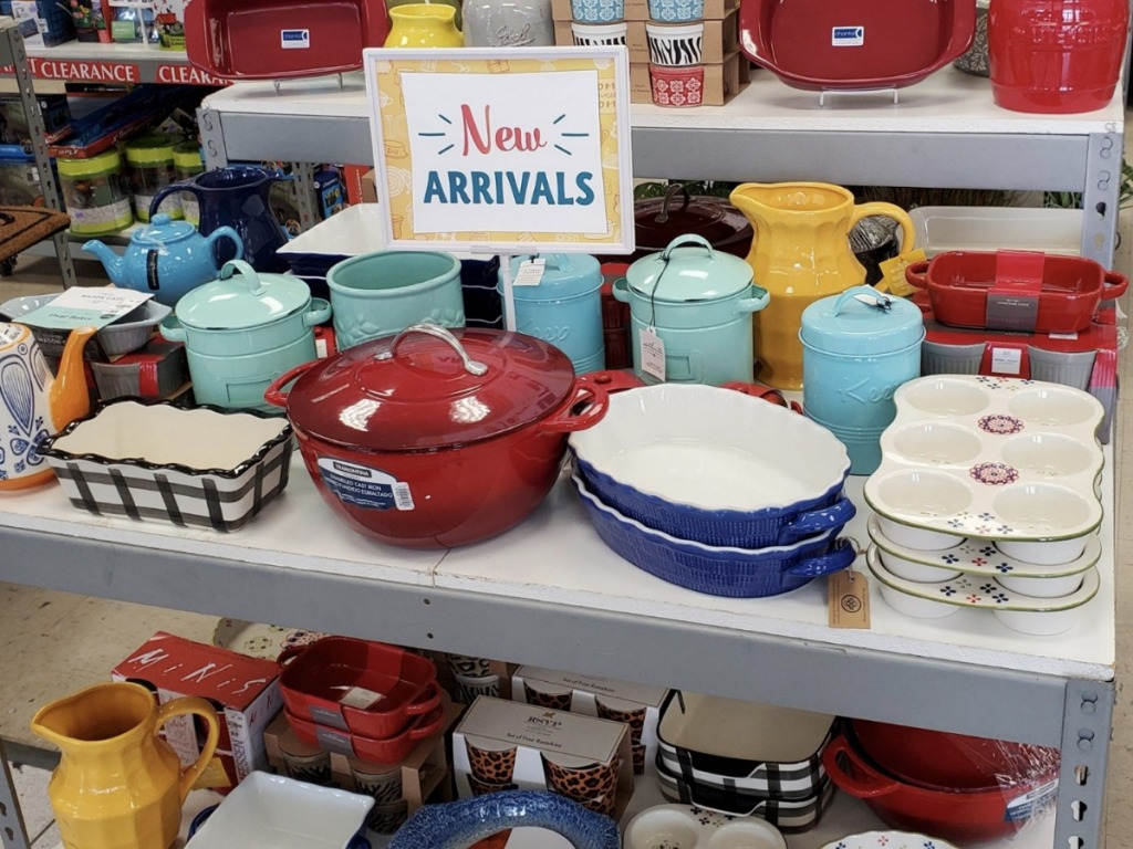 Bakeware on display inside Tuesday Morning store