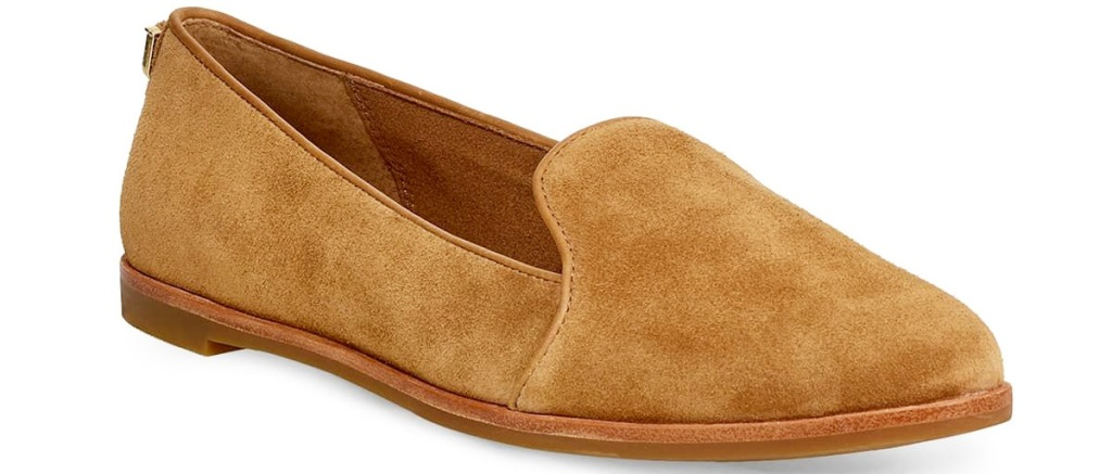 women's brown suede loafer