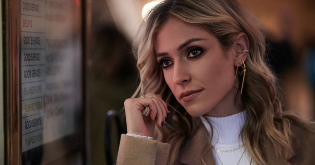 Kristin Cavallari modeling for a picture with jewelry on