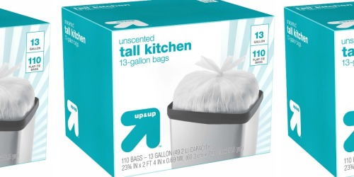 110 Tall Kitchen Trash Bags Only $8.54 Shipped on Target.com