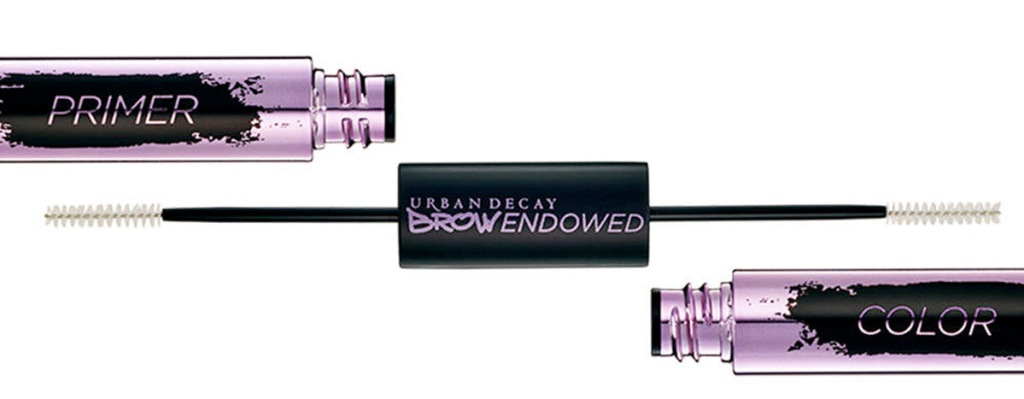 double ended urban decay brow pigment with eyebrow brushes and pigment on each end