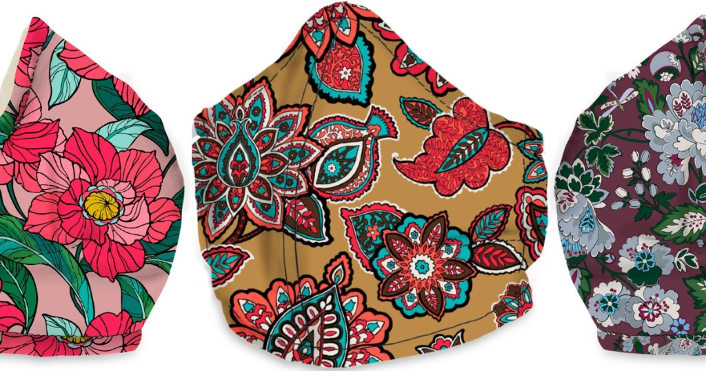 3 vera bradley non-medical face masks