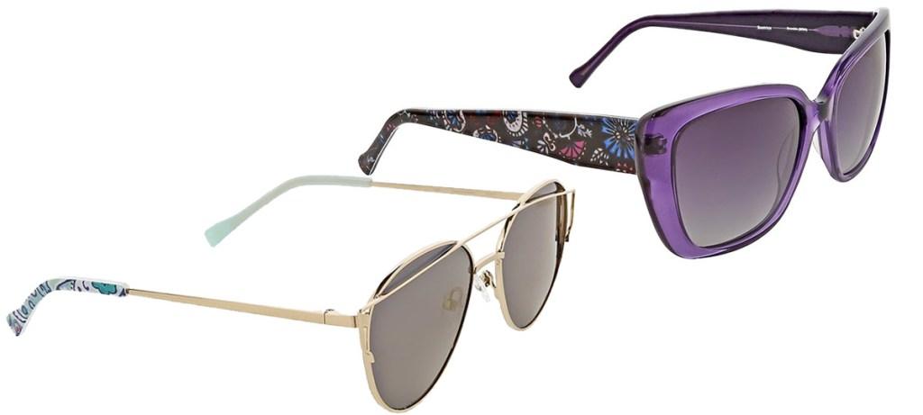 two pairs of vera bradley brand sunglasses