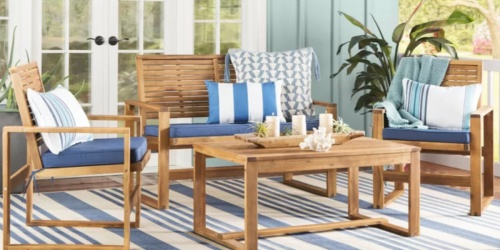 4-Piece Patio Set w/ Cushions Only $405.99 Shipped