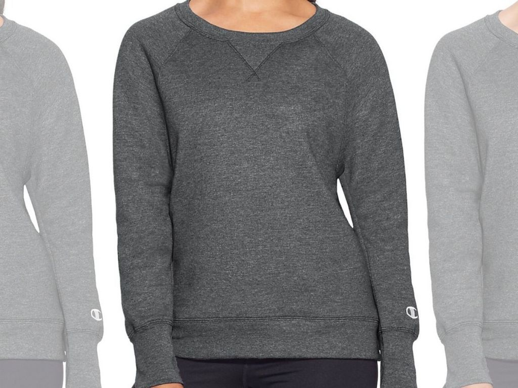 woman wearing sweatshirt