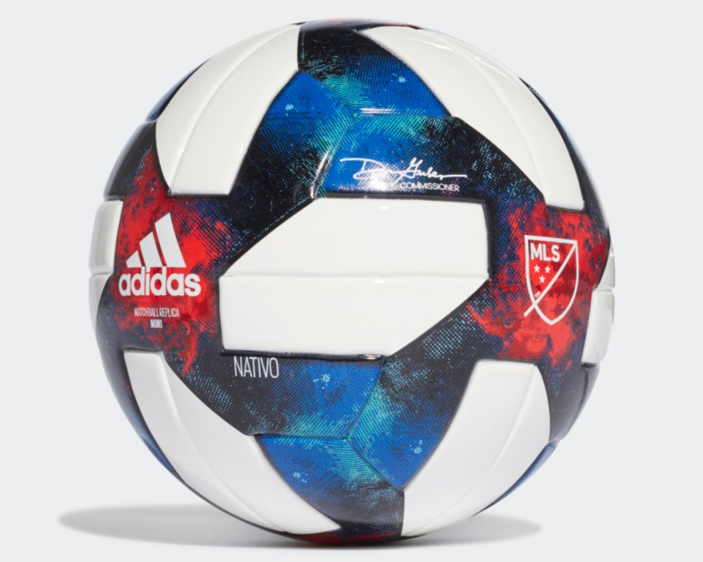 adidas mls mini ball red white and blue