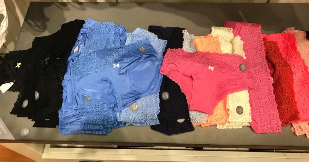 aerie underwear on table