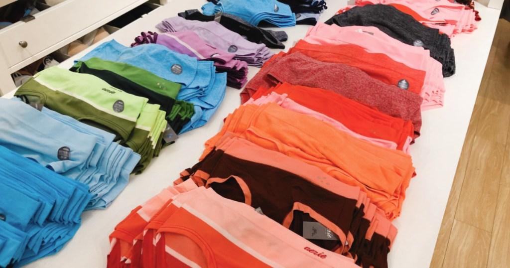rows of aerie underwear in store