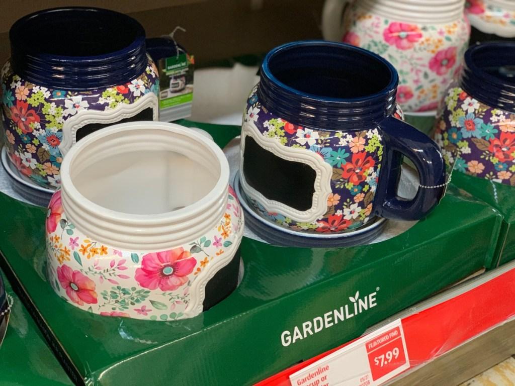 Mason jar planters at ALDI