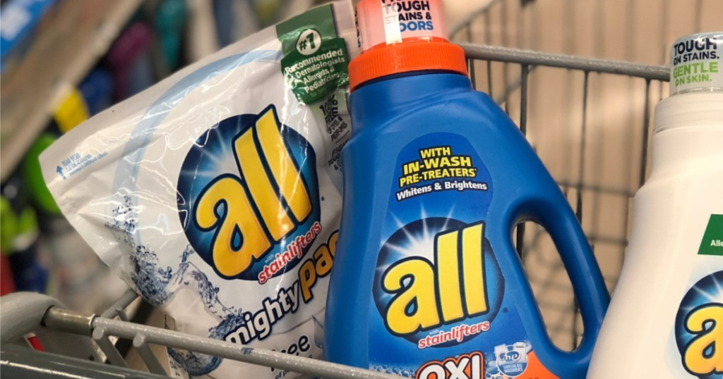 all detergent in shopping cart