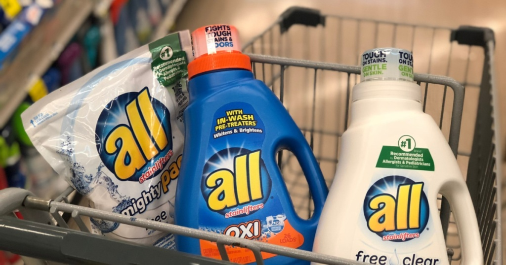 all laundry detergent in cart