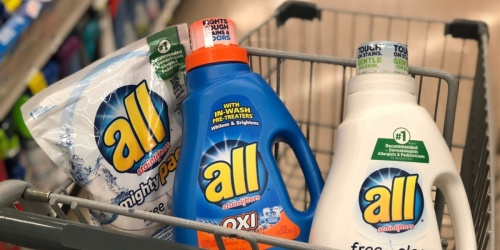 $3 Worth of All Detergent Coupons = Just $2.89 Each at CVS