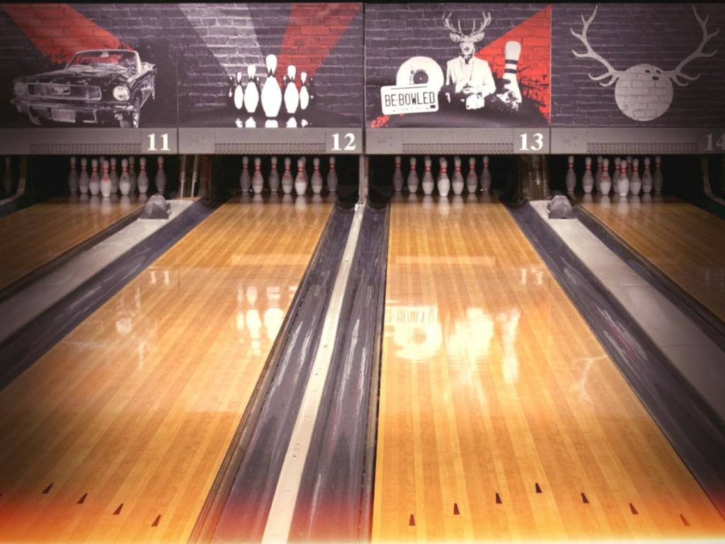 empty bowling lanes