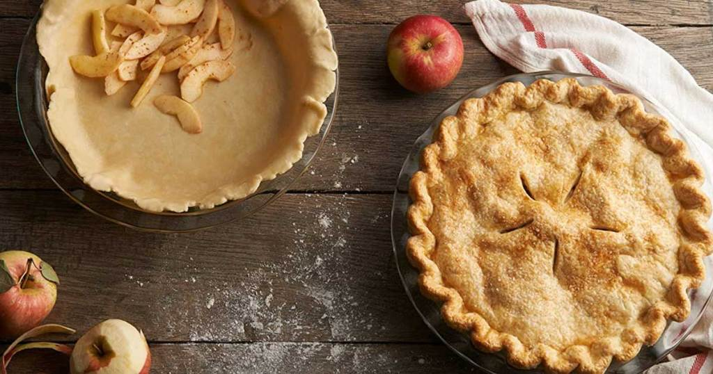 apple pie glass plates
