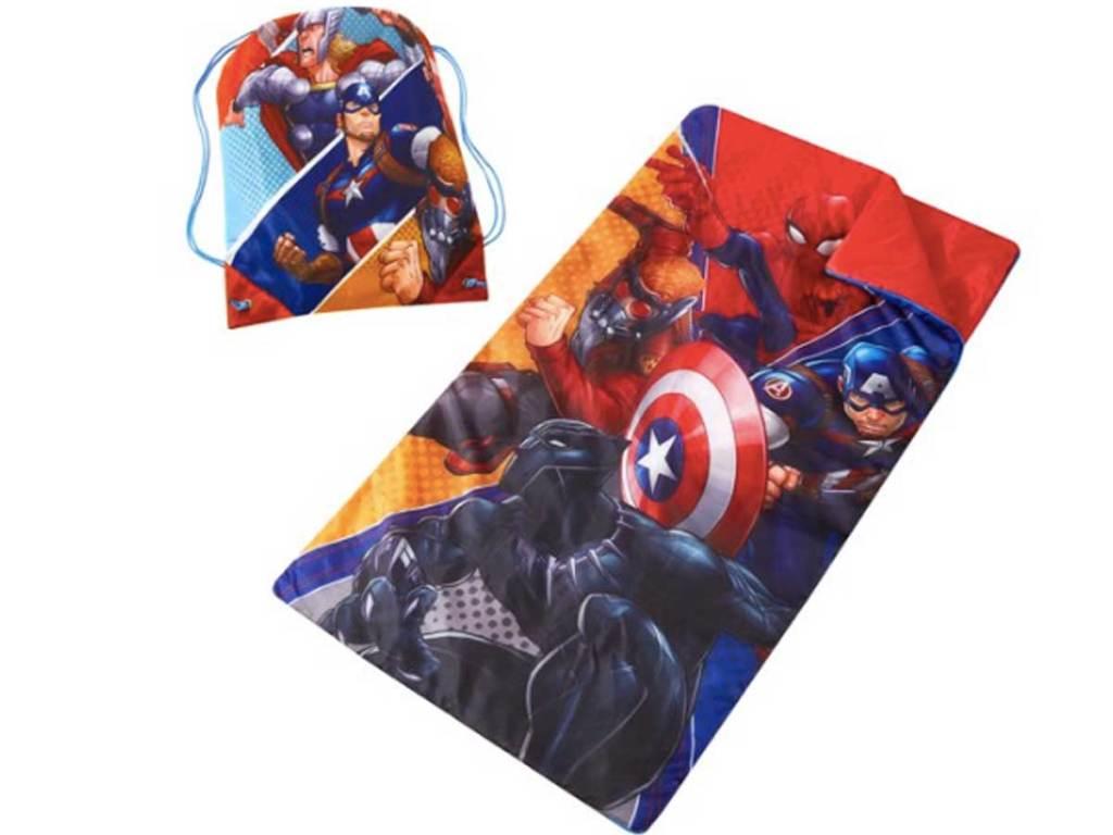 avengers sleeping bag and sling bag