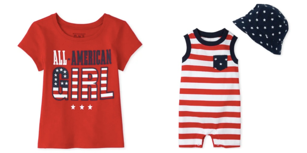 baby apparel the childrens place red white and blue