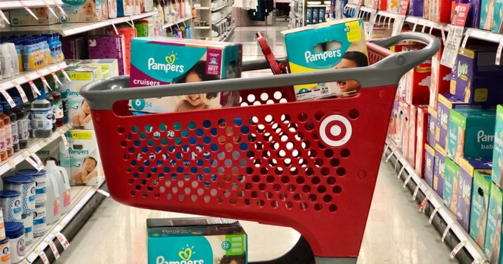 baby products at target in cart