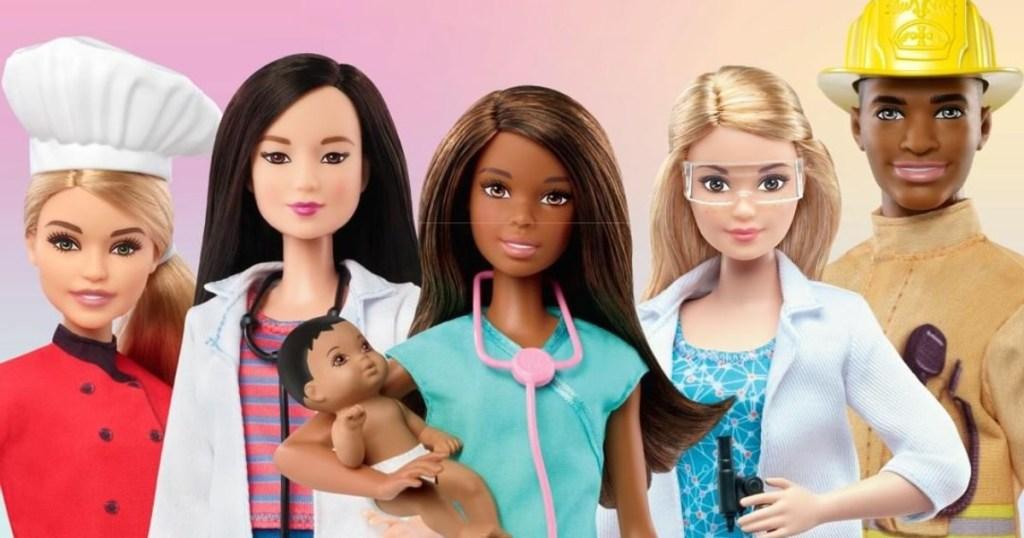 5 Barbie Career dolls