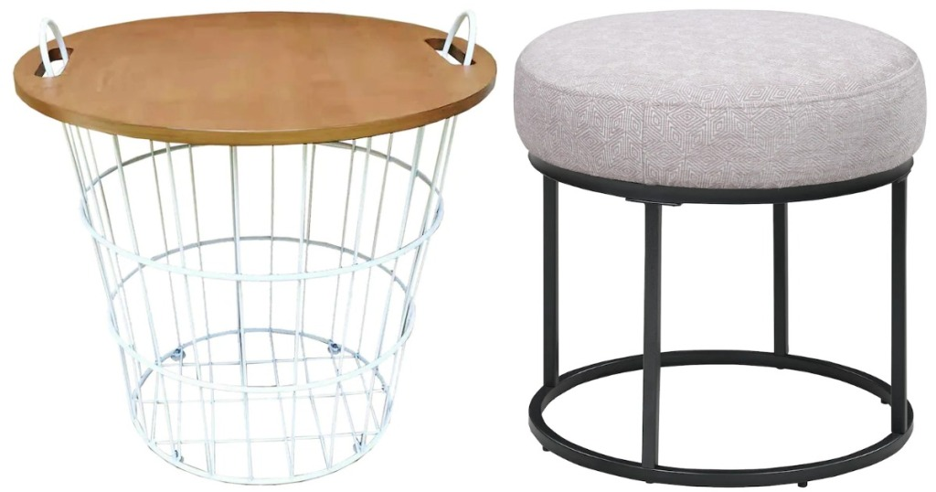 basket table and Scott Ottoman