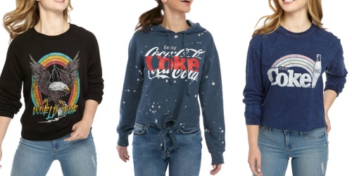 Junior's Graphic Tees & Pullovers from $5.99 on Belk.com (Regularly $38)