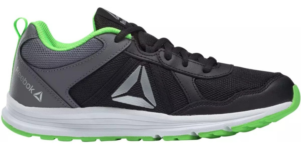 big kids reebok black and green one shoe