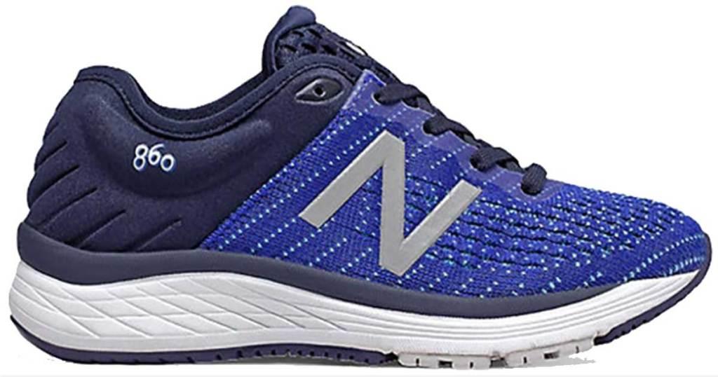 blue new balance kids shoe