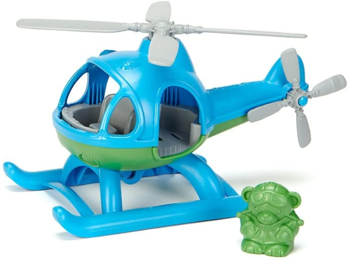 Blue toy helicopter