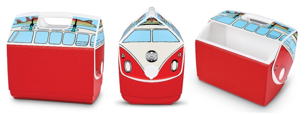 red Igloo VW bus cooler