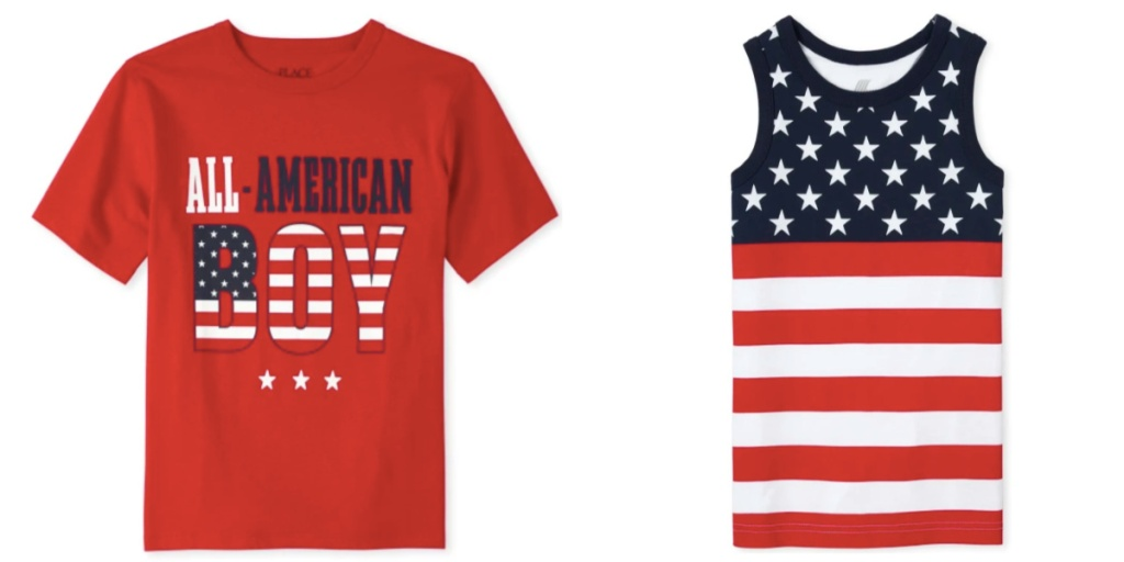 boys tops the childrens place patriotic print