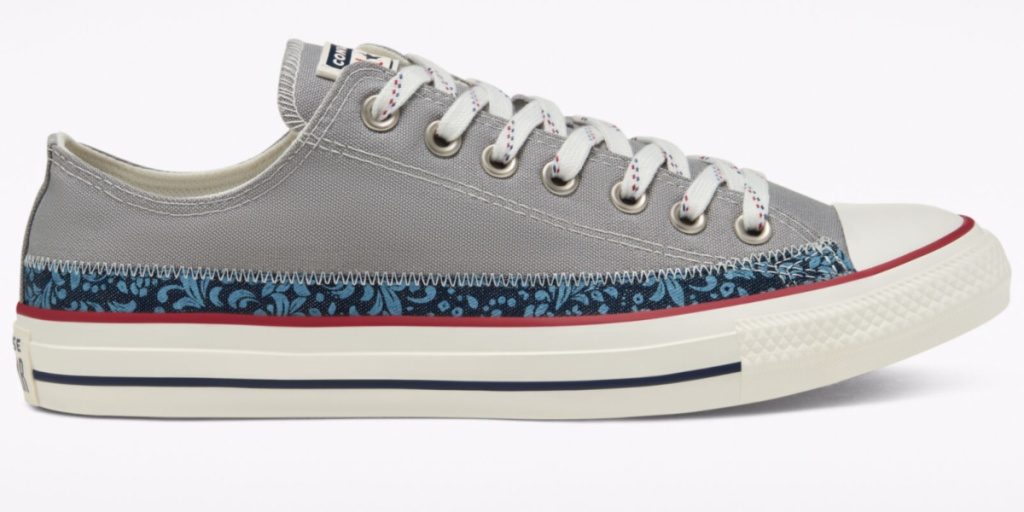 converse floral all star single adult shoe