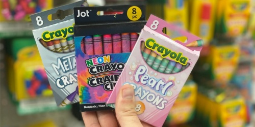 Crayola Crayons 8-Count Packs Only $1 at Dollar Tree | Pearl, Metallic, & Neon