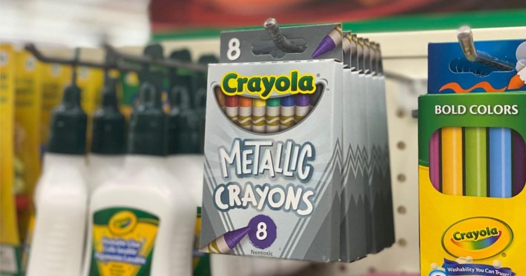 crayola metallic crayons at dollar tree