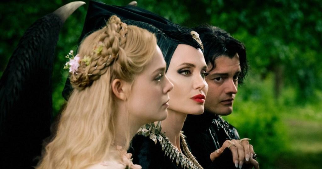 screenshot of the cast of disneys maleficent mistress of evil movie