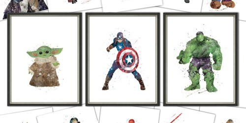 Character Art Prints Any Size Only $5.93 Each Shipped | Baby Yoda, Marvel, Pokémon & More