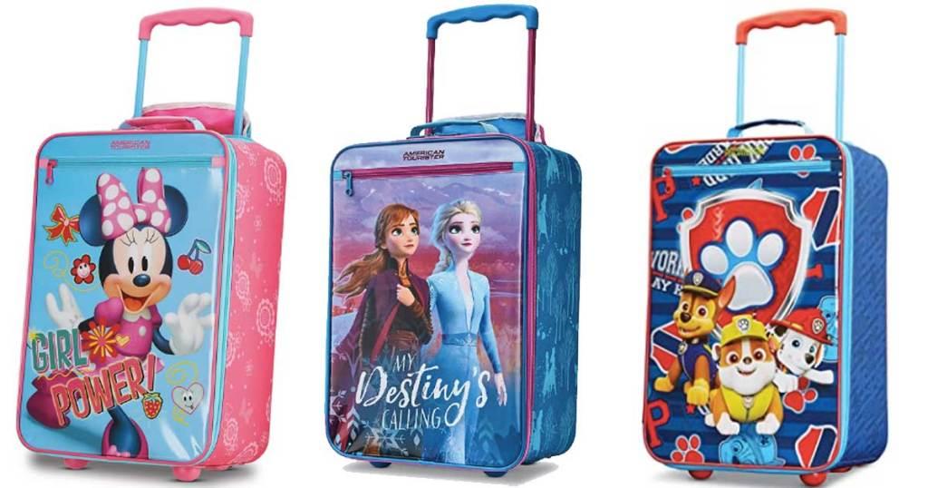 disney softsided suitcases