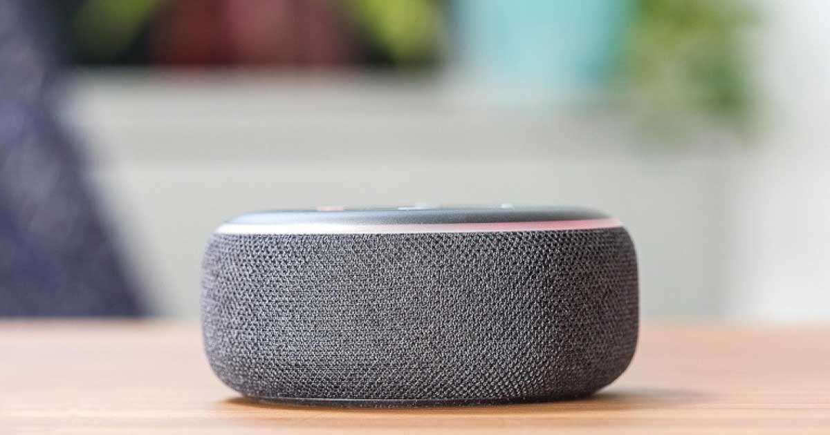 Echo dot on a table