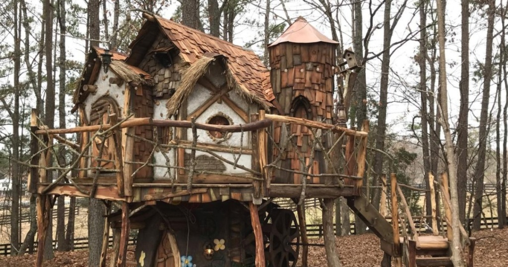 Fairy tale treehouse in the woods