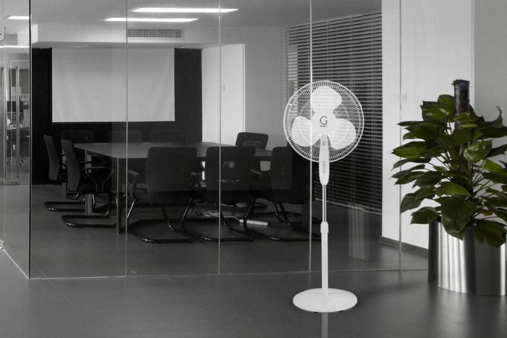 genesis pedestal fan in office