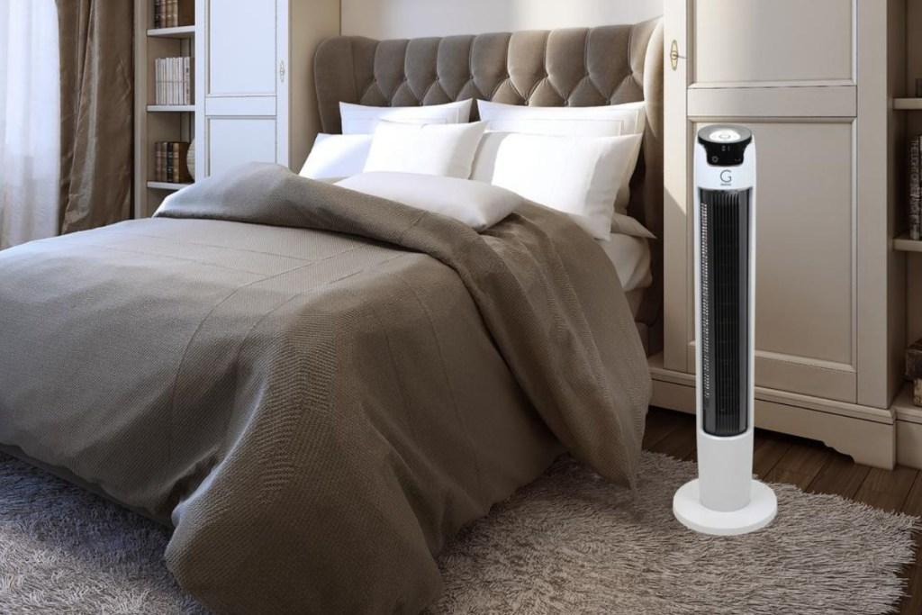 genesis tower fan in bedroom
