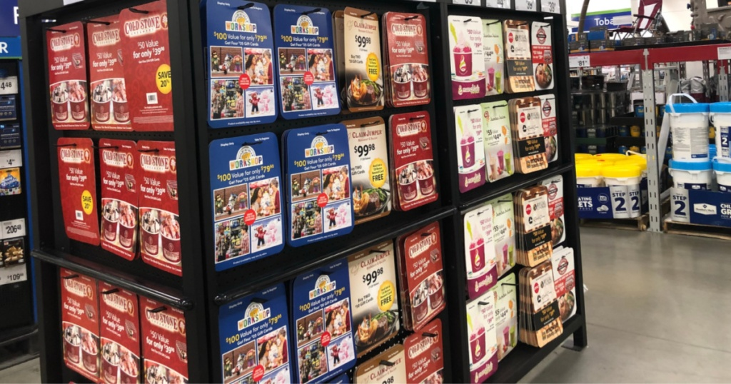 gift cards on aisle