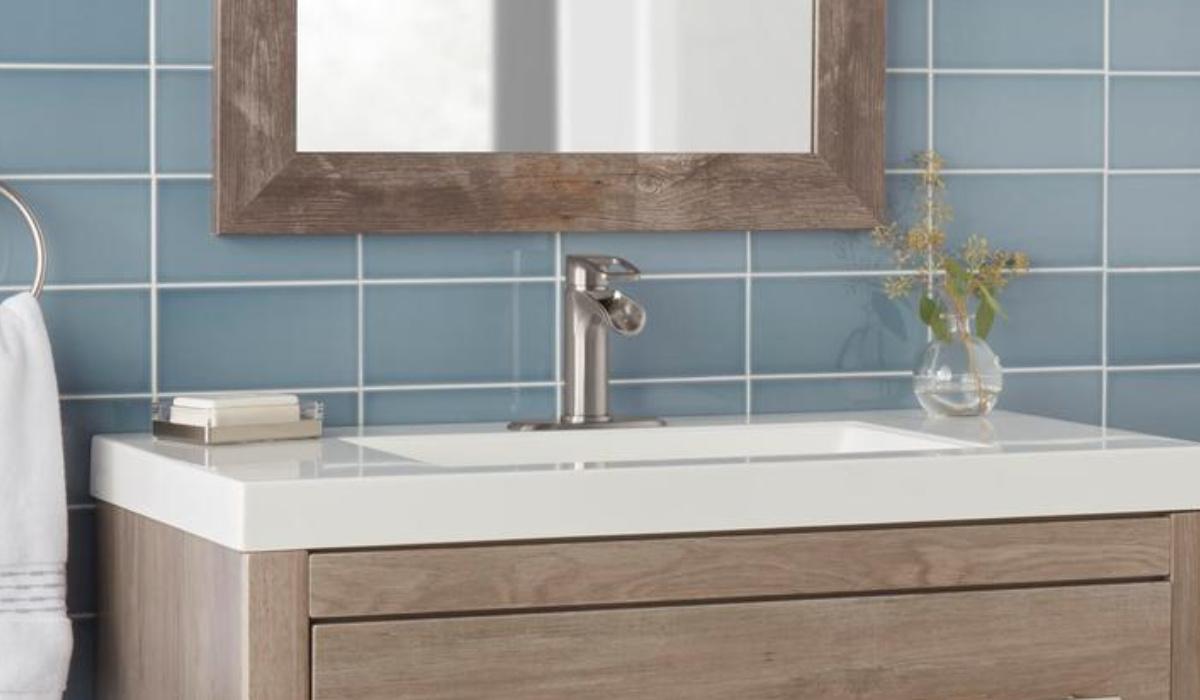 glacier bay kiso single handle bathroom facuet