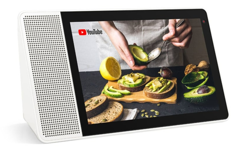 google assitant cooking class on screen