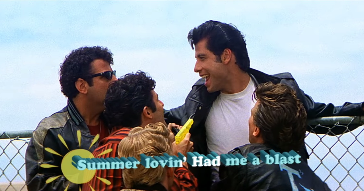still shot from Grease Singalong
