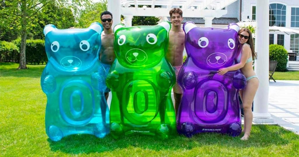 gummy bear pool floats multiple colors