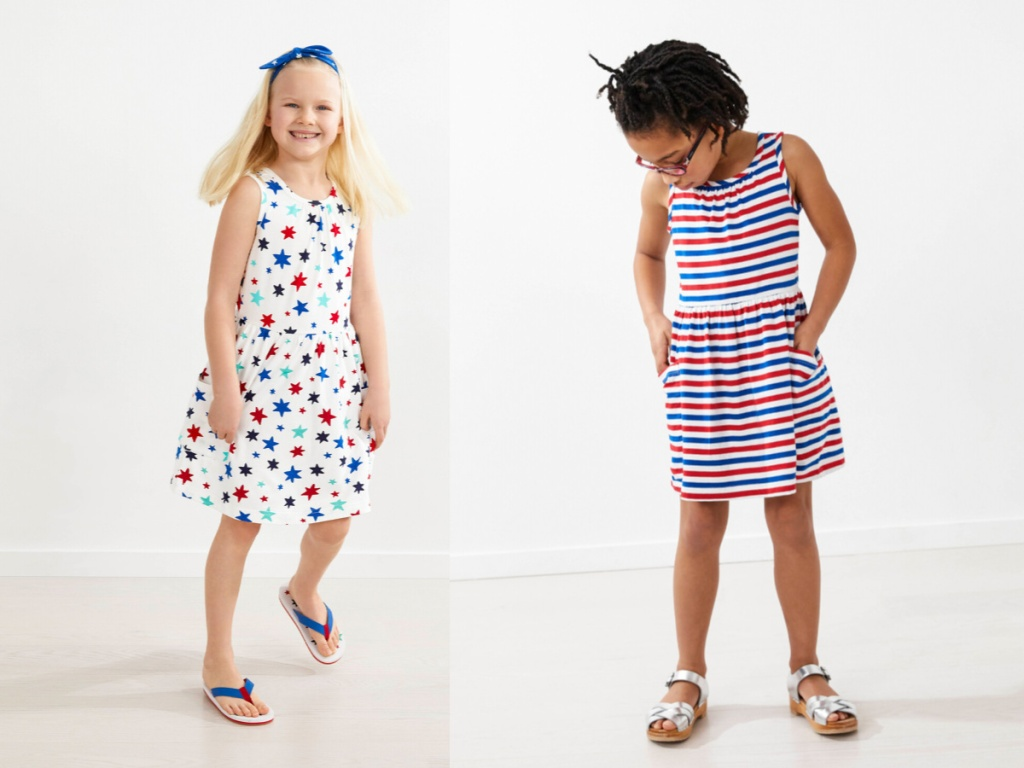 girls in 4th of july dresses
